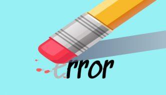 cambiar palabra error en educación